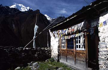 Berghütte bei Kyanjin Gompa, Nepal