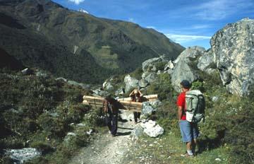 Auf dem Weg zurück nach Langtang