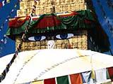 Die Bodnath Stupa in Kathmandu, Hauptstadt von Nepal