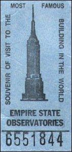 eine Eintrittskarte für das Empire State Building in Manhattan, New York