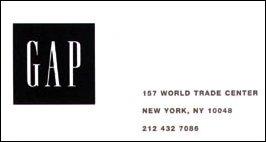 die Filiale von GAP (ehemals im World Trade Center) New York, USA