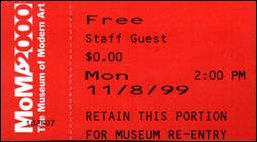 eine Freikarte für das MoMa in Manhattan