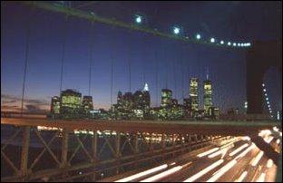 auf der Brooklyn Bridge, New York
