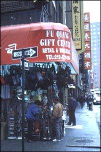 in der Canal St. in Chinatown, New York