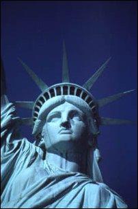 der Torso der Freiheitsstatue auf Liberty Island, New York