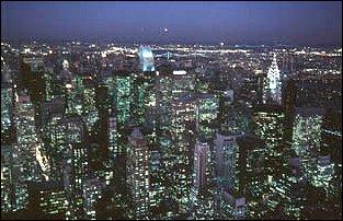 der Blick vom World Trade Center, New York