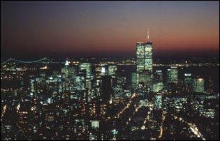 die Aussicht vom Empire State Bulding (vor dem 11.09.2001) in Manhattan