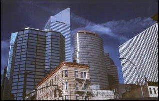 Gebäude an der East Side von Midowon, Manhattan