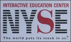 Eintrittskarte zum New York Stock Exchange, Wall Street, New York