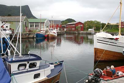 Kabelvag, am Hafen, Lofoten, Norwegen
