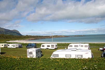Campingplatz Gimsoy/Hov, Lofoten, Norwegen