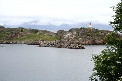 Landschaft bei Stamsund, Lofoten, Norwegen
