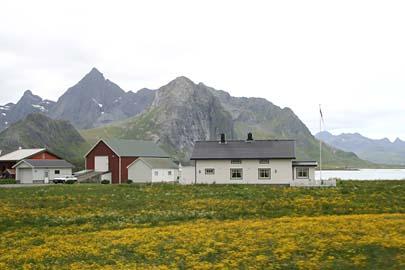 Lofotlandschaft auf Flakstadoy, Norwegen