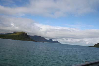 Atlantikküste Insel Vestvagoy, Lofoten, Norwegen