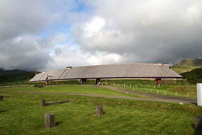 Wikingermuseum in Borg bei Leknes, Lofoten, Norwegen