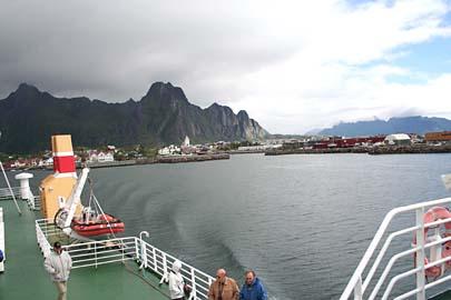 auf Fähre von Svolvaer nach Skutvik, Norwegen