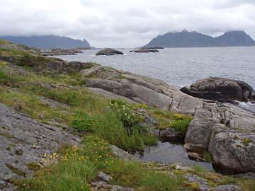 Blick von Gunnarholmen, Lofoten/Norwegen