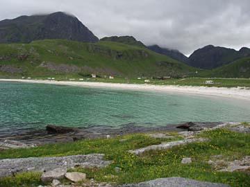herrliche Küstenlandschaft auf Vestvagoy, Lofoten, Norwegen