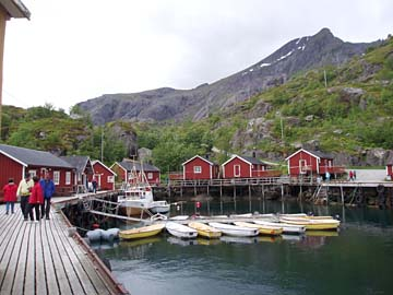 Hafen von Nusfjord, Lofoten, Norwegen