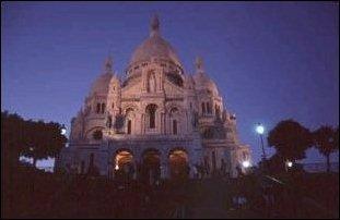 die Basilika von Sacre-Coeur in Monmartre, Paris