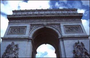 der Triumpfbogen in Paris