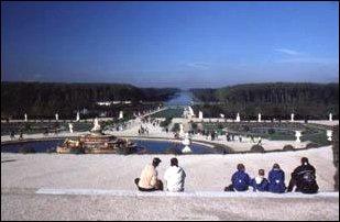 der Schlosspark von Versailles bei Paris