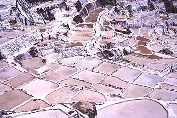 in den Salzsalinen von Maras bei Cusco, Peru