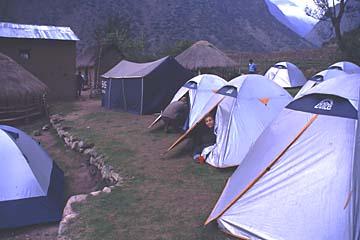 unser Camp am ersten Abend des Inka Trails, Peru