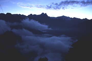 am Morgen des 4. Tages haben wir Hoffnung auf besseres Wetter, Inka Trail, Peru