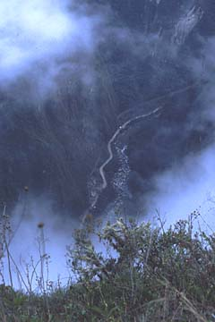 Blick ins Tal von Agua Calientes, Inka Trail Tag 4, Peru