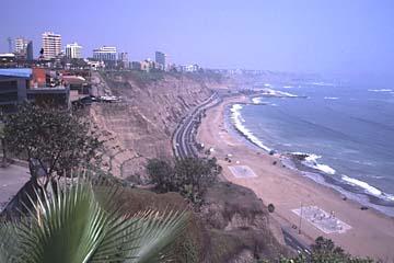 die Küste in Miraflores, Lima, Peru