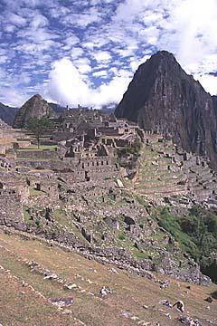 die Ruinenanlage von Machu Picchu, Peru