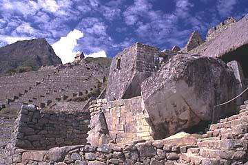 der Sonnentempel innerhalb Machu Picchu, Peru