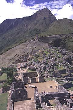Rückblick zum Sonnentor, Machu Picchu, Peru