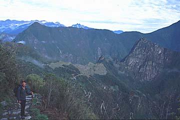 die letzte halbe Stunde zu den Ruinen von Machu Picchu, Inka Trail, Peru