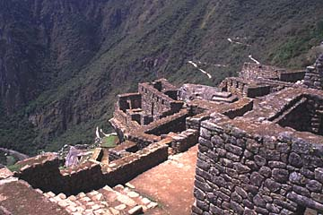 die Unterstadt vor der Schlucht, Machu Picchu, Peru
