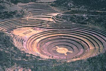 die experimentelle Anlage der Inka in Moray, Peru