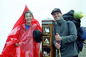 am Gipfel des 'Dead Woman Pass' auf 4.215m Höhe, Inka Trail, Peru