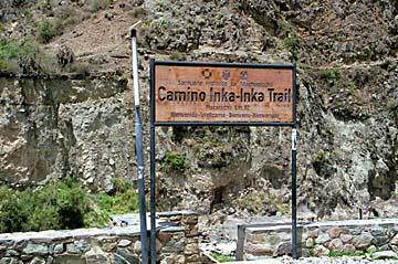 der Startpunkt des Inka-Trail bei km 82, Peru