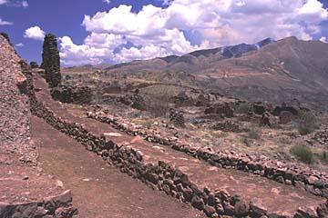 die prä-Inka-Ruine von Piquillakta bei Cusco, Peru