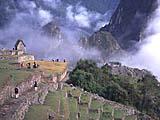 Die Inka-Tempelanlage von Machu Picchu in Peru