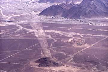 einige der Linien von Nasca in Peru