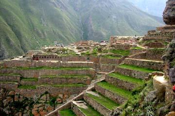 die Inka-Ruinen von Ollantaytambo im heiligen Tal der Inka