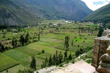 im heiligen Tal der Inka war einst die Kornkammer der Inkas in Peru