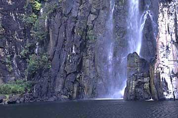 der untere Teil der Cascade du Niagara, Réunion