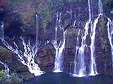 Der Wasserfall Cascade de Grad Revine in Langevin auf La Réunion