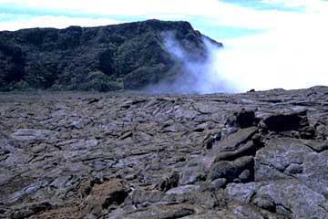 der Blick über die Enclos Fourque zum nordlichen Rand, Piton de la Fournaise, Réunion