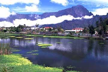 der kleine See in in Cilaos, Réunion