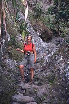 auf dem Abstieg zum Ilet des Orangers, Mafate, Réunion