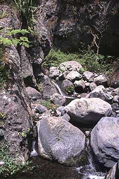 in der Schlucht vor dem Ilet des Orangers, Mafate, Réunion
